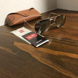 Ray-Ban Glasses RB3025 55mm Grey Mirror Lenses